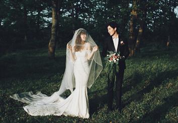 阳光森系主题婚纱照