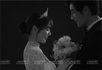 黑白韩式系列婚纱摄影