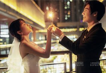 < 浪漫夜景 > 主题婚纱摄影